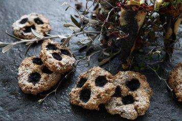Muesli blueberry breakfast cookies