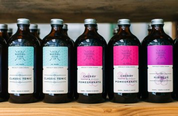 Selection of six barrel sodas (per bottle)