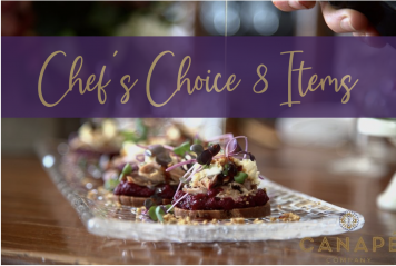 Chefs Choice Canape 8 items + 1 Free