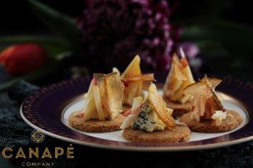 Kikorangi mousse gingerbread apple fennel salad