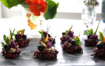Superfood fritters parsnip shards spiced carrot